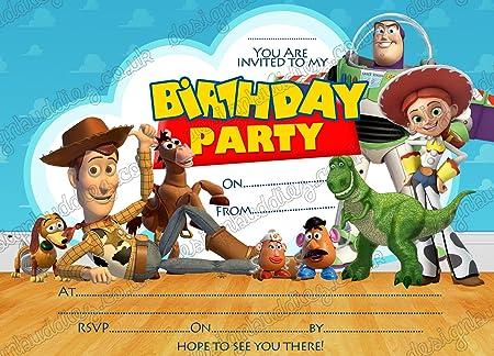 10 X Disney Toy Story Birthday Party Invitations With FREE Envelopes