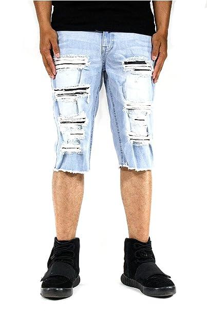 4cc60c800e7 Jordan Craig Shredded Denim Shorts at Amazon Men's Clothing store: