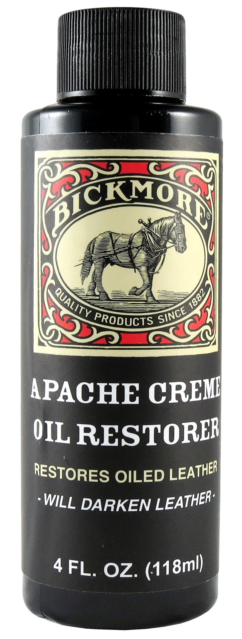 Bickmore Apache Creme Oil Restorer 4 Ounce - Restores Oiled Leather - Great for Apache or Distressed Leather Boots, Shoes, Bags, and More by Bickmore