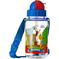 Simply Life SLMA-1404-350ST - Blessed - BPA-free Tritan Bottle with Straw and Safety Release Strap (350ml), Blue