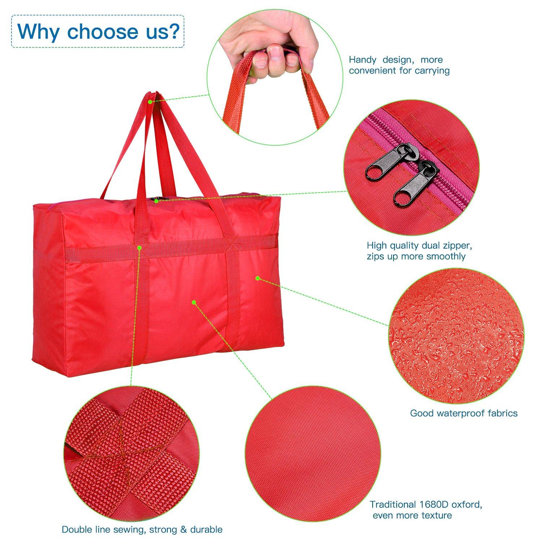 riutilizzabile Rose Ideale per contenere piumini small borsa portaoggetti con cerniera grande e robusta in tessuto Oxford giocattoli e vestiti Hiwill
