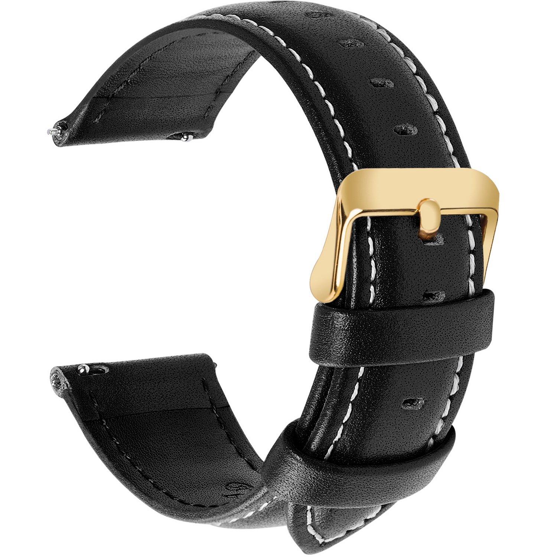 時計バンド ベルト、Fullmosa 全12色スマートウォッチバンド ベルト 腕時計バンド 交換ベルト本革 レザー