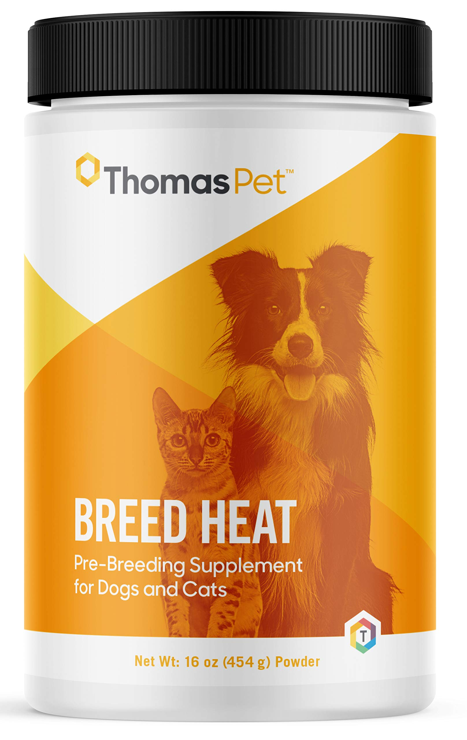Thomas Pet Breed Heat - Helps Regulate Heat Cycles in Dogs & Cats - Supports Reproductive Health of Female Dogs & Cats - Promotes Hormone Balance & Helps Prepare Dogs for Breeding - 16 Ounce Powder