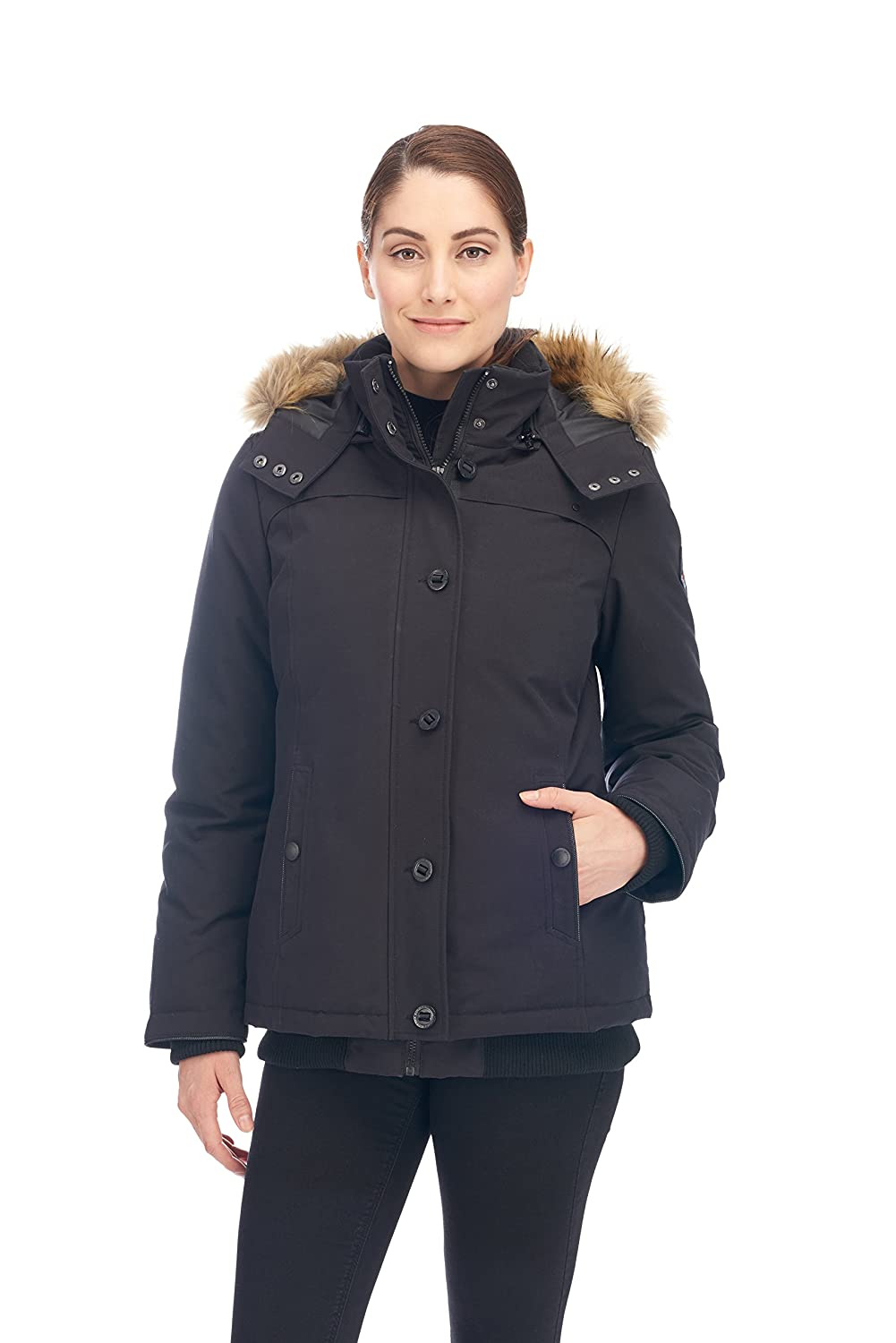 2101a82fd Alpine North Women's Down Bomber Jacket Winter Coat