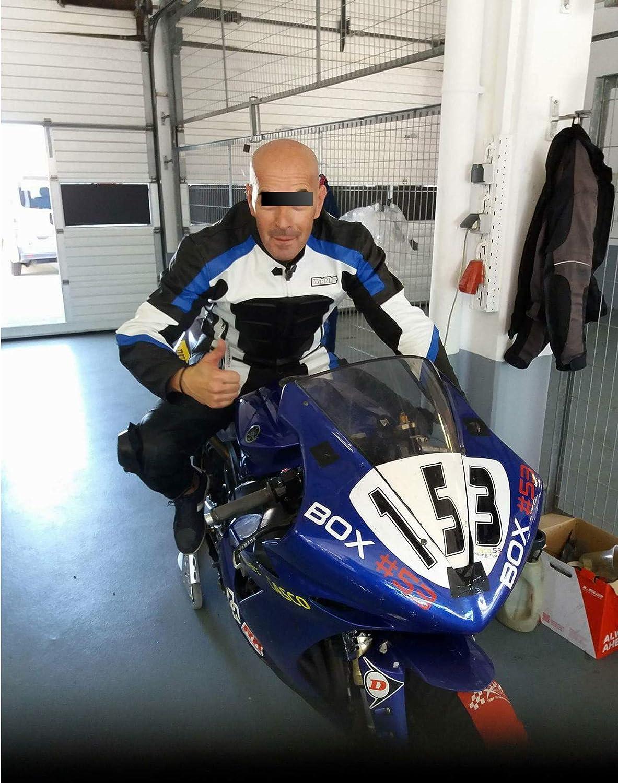 2XL Taglia WinNet Tuta per moto divisibile 2 pezzi in pelle Blu Colore