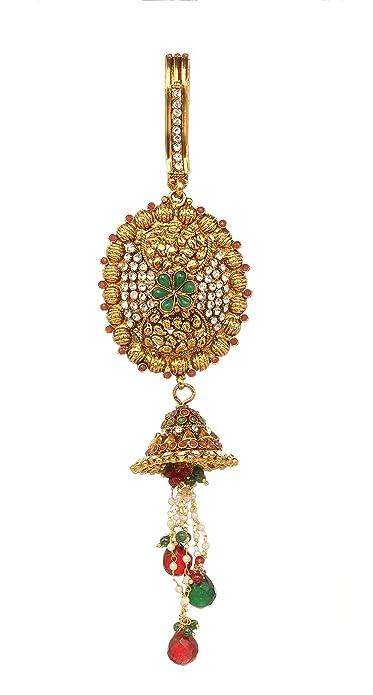 5220964c3 Bindhani Women Indian Royal Bollywood Satka Keychain Saree Hook Pin Brooch  Waist Belly Hip Juda Wedding Jewelry: Amazon.ca: Jewelry