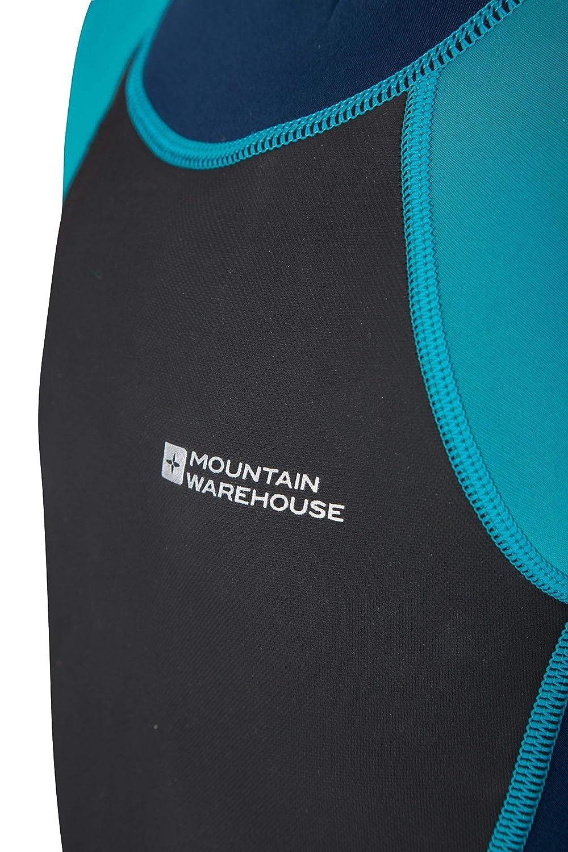 Coutures Plates Fermeture /éclair Facile libert/é de Mouvement et Fermeture r/églable au Cou Mountain Warehouse Combinaison de plong/ée Shorty pour Enfant