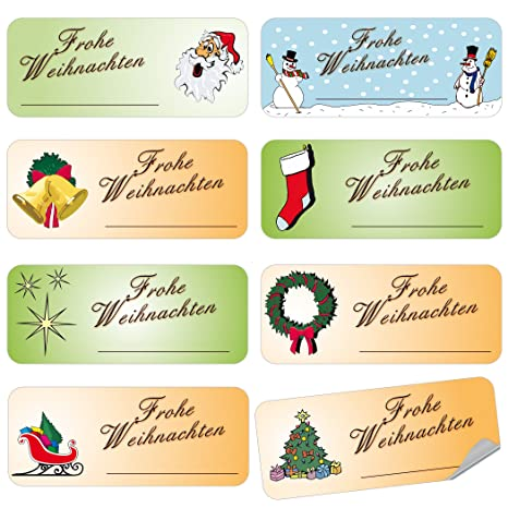Merry Christmas Labels.Amazon Com Geschenke Mit Namen 1390 Christmas Labels No 4