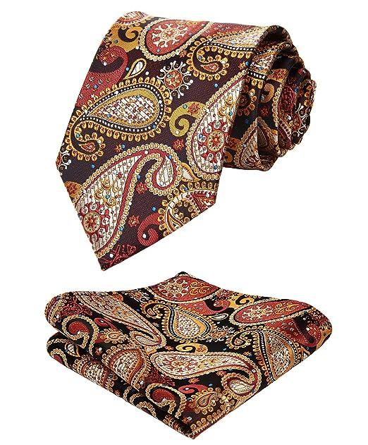 b1c0e5b7e6bf HISDERN Paisley Tie Handkerchief Woven Classic Men's Necktie & Pocket  Square Set: Amazon.ca: Clothing & Accessories