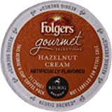 Folgers Hazelnut Cream Flavored Coffee, K-Cup Pods for Keurig K-Cup Brewers, 12-Count (Pack of 6)