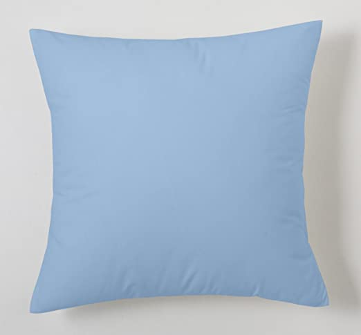 ESTELA - Funda de cojín Combi Lisos Color Azul Celeste - Medidas 40x40 cm. - 50% Algodón-50% Poliéster - 144 Hilos: Amazon.es: Hogar