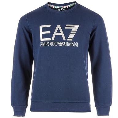 56c559ef10b0 Emporio Armani Boys EA7 Junior Boys Training Core Brand Crew Sweat in Navy  - 13-14  Emporio Armani EA7  Amazon.co.uk  Clothing