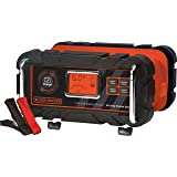 BLACK+DECKER BC15BD Fully Automatic 15 Amp 12V Bench Battery Charger/Maintainer with 40A Engine Start, Alternator Check, Cabl