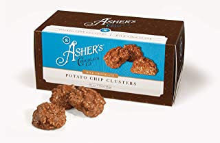 product image for Asher's Chocolates, Chocolate Covered Potato Chip Cluster, Gourmet Sweet and Salty Candy, Small Batches of Kosher Chocolate, Family Owned Since 1892, Snack Size Box (6.15oz, Milk Chocolate)