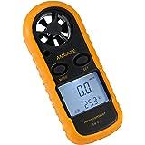 Anemómetro Digital Pantalla LCD Medidor de velocidad del viento mano flujo de aire velocidad termómetro de medición de dispositivo para windsurf Kite Flying vela Surf pesca