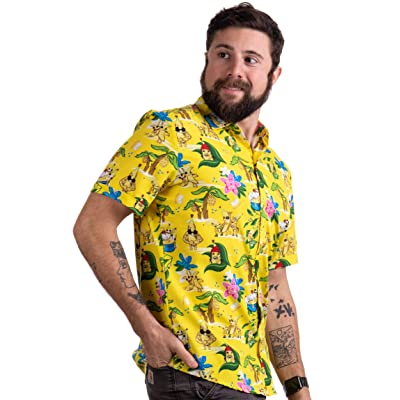 Workout Flamingos Funny Lifting Hawaiian Button Down Polo Party Lift Shirt Men