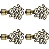 FAST CB30 Brass Antique Curtain Bracket/Curtain Finial/Curtain Accessories (Pack of 4PCS)