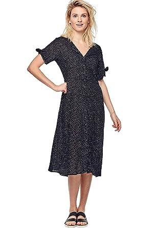 Ellos Women\'s Plus Size Tie-Sleeve Dress at Amazon Women\'s Clothing ...