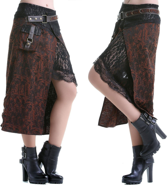 crazyinlove Mujer Falda dos piezas negro Large: Amazon.es: Ropa y ...