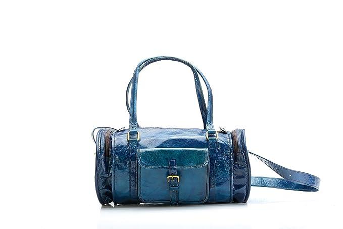 Bolsa Piel Azul Hombre Deporte Viaje Woman Design Vintage ...
