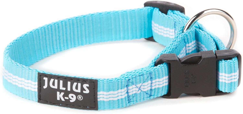 Julius-K9 216HB-IDC-NL-AM Collar de Correas Tubulares IDC, 19 mm x 27-42 cm, Aguamarina