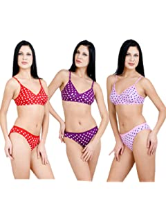 a209c34fedc1 Adolescent Cotton,Sexy,Daily wear, Bra and Panties Set Combo for Women\