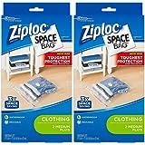 Ziploc Space Bag, Flat, Medium, 2 Count (Pack of 2)
