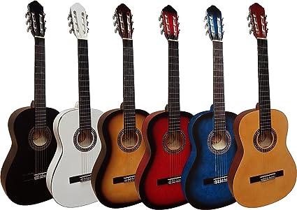 Guitarra clásica 4/4 (adulto), 6 colores a elegir, blanco: Amazon ...