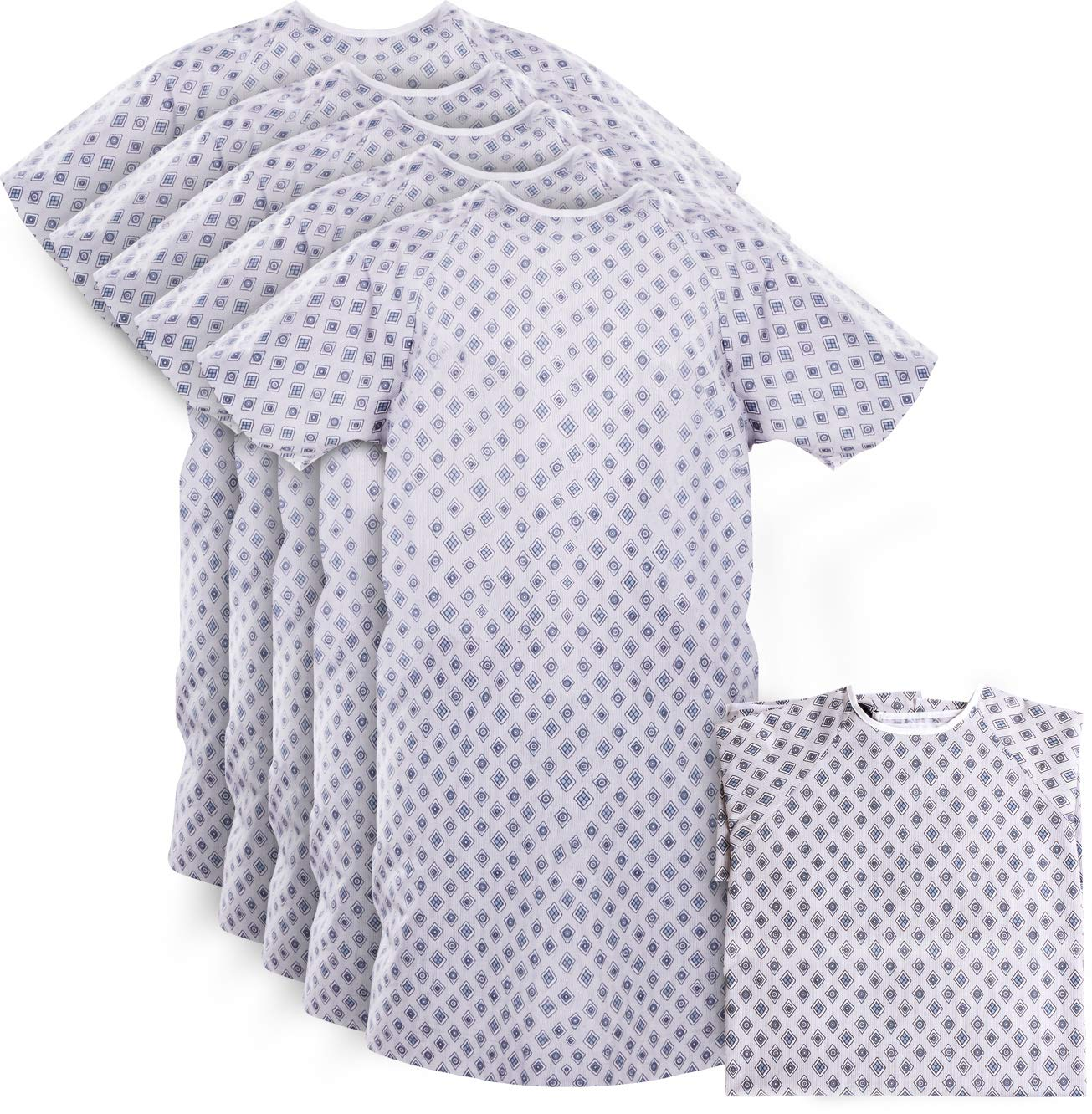 Hospital Gown - Patient Gowns Fits All Sizes Up To 2XL - Back Tie - Pack of 6 by Utopia Care