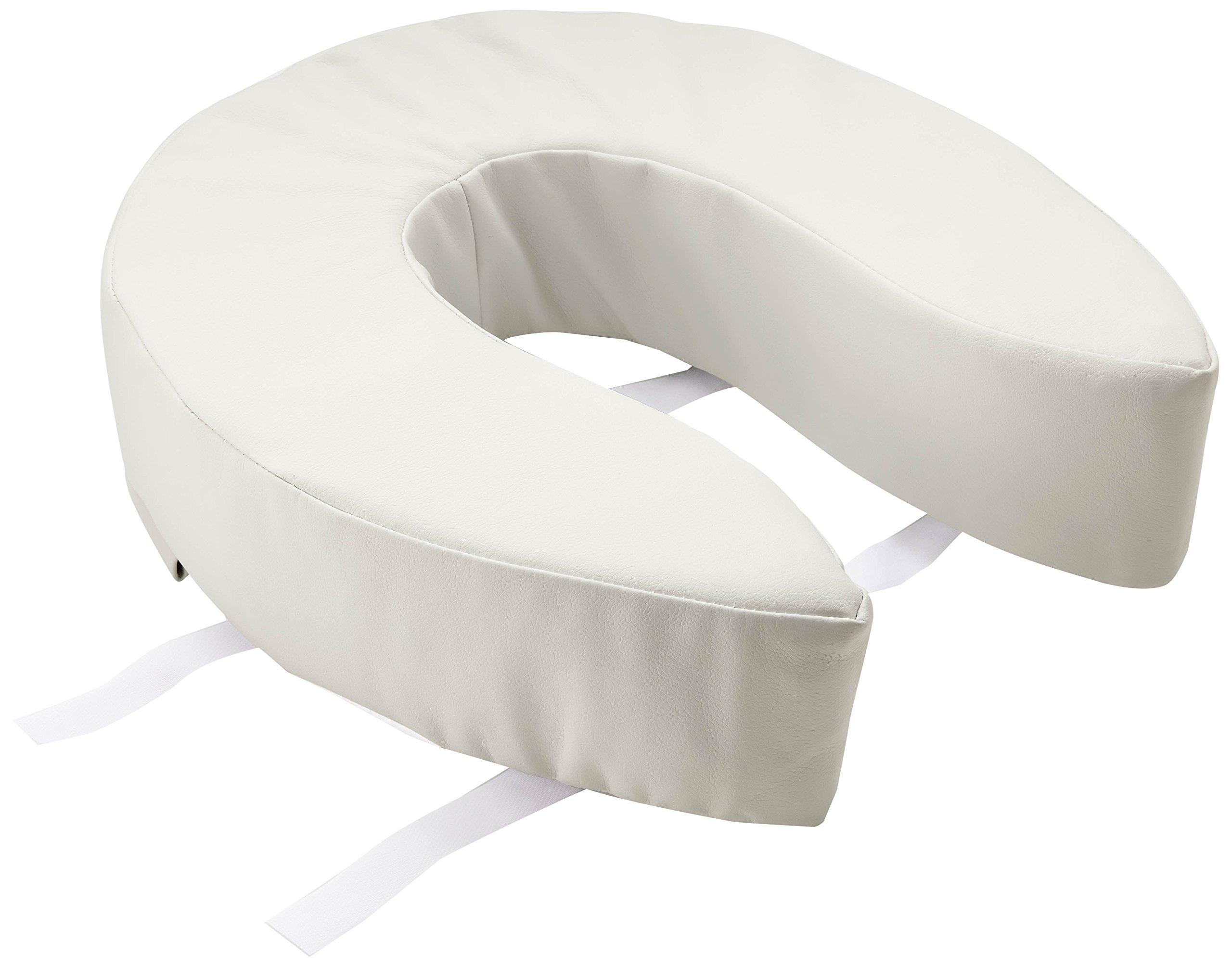 Medline MDS80328 Padded Toilet Seat Riser, 4'', White (Pack of 3) by Medline