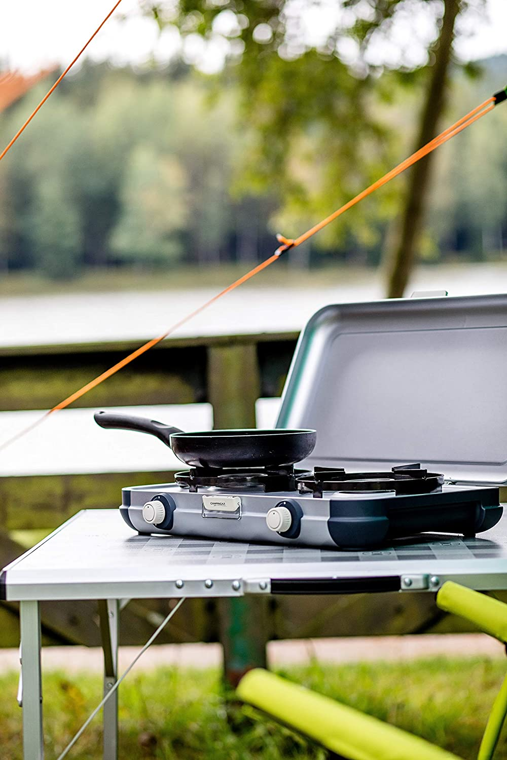 4.000/Watt Campingaz Camping Kitchen 2 Camping Stove Portable Two/Burner Gas Cooker Compact Outdoor Grill