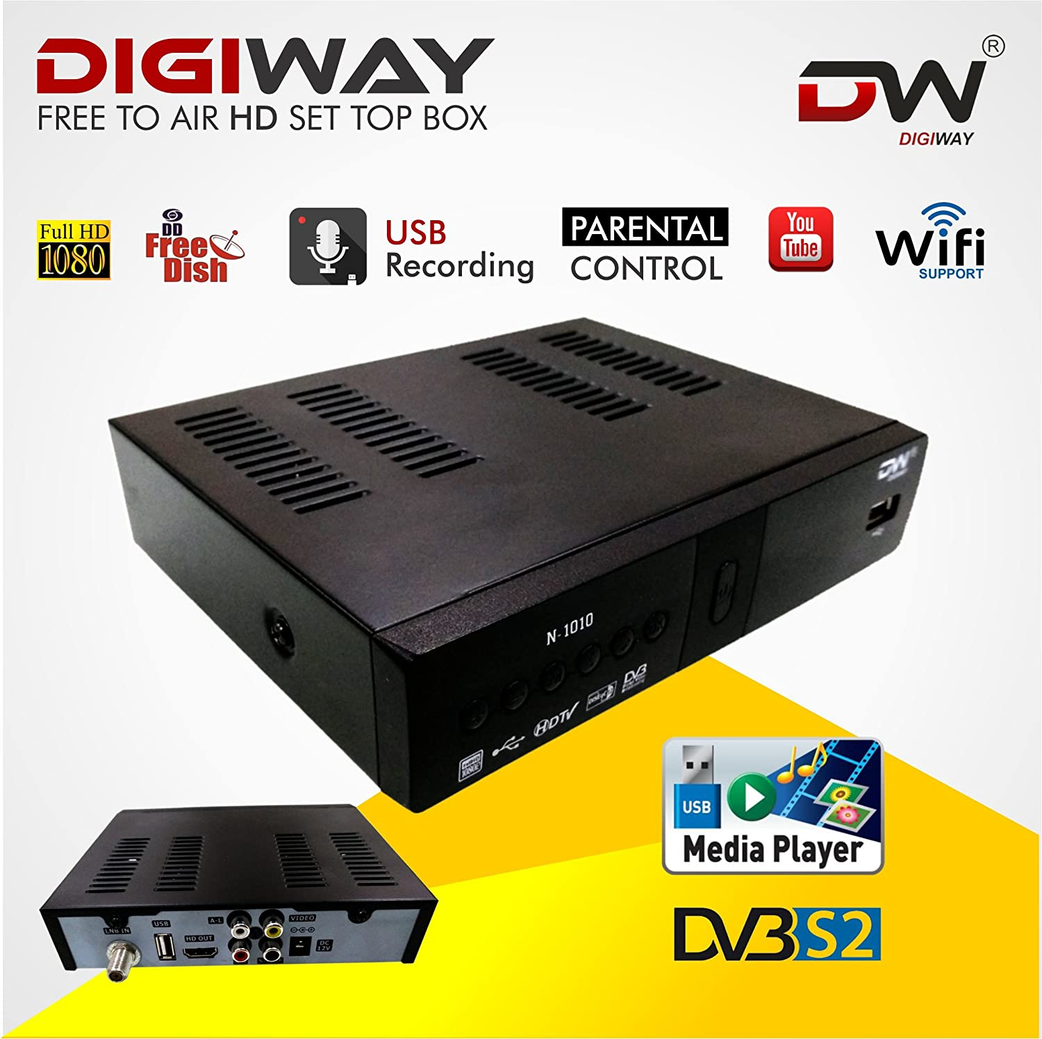 Digiway Free To Air Dd Direct Dth Set Top Box Amazon Electronics
