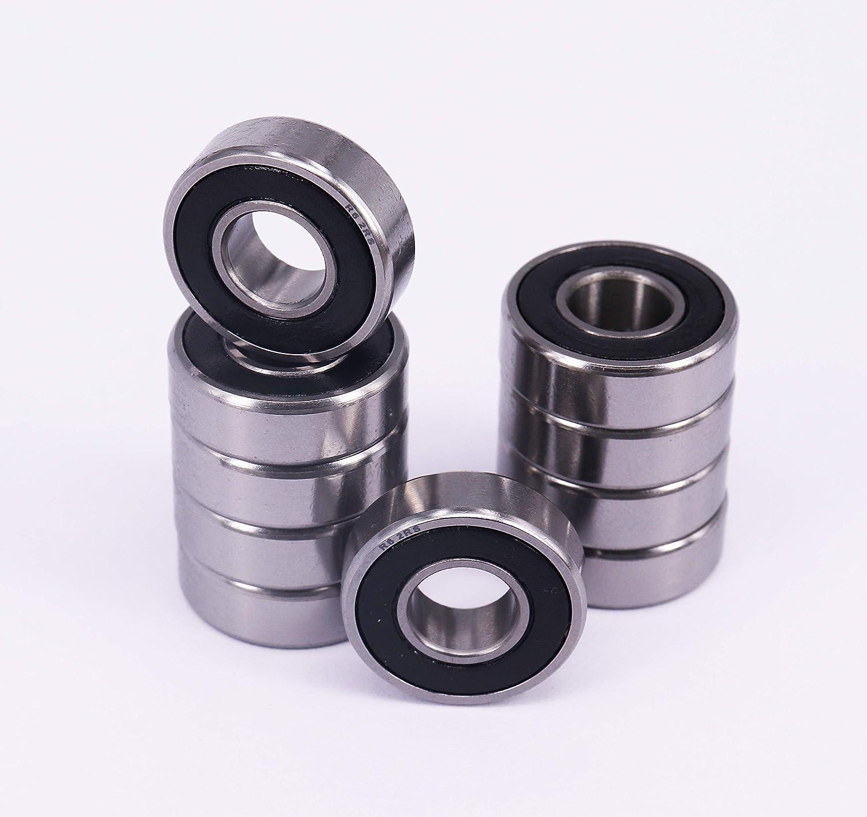 "Lot of 10 pcs R6 Shielded Ball Bearings 3//8/"" x 7//8/"" x 9//32/"" R6-2RS"