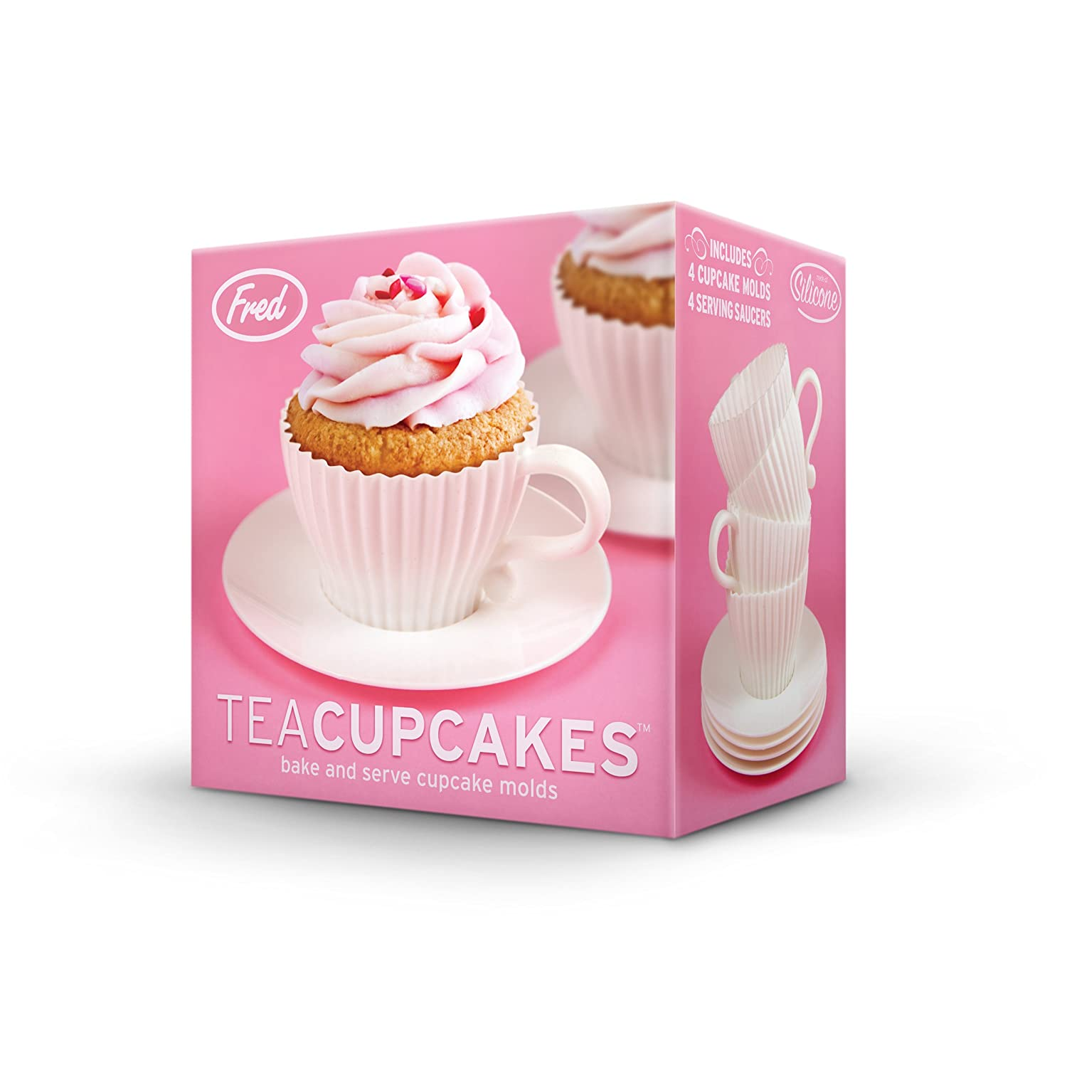 fred teacupcakes baking cups set of 4 cups and
