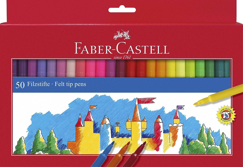 Faber Castell 554250 Filzstifte Im Kartonetui 50 Stück