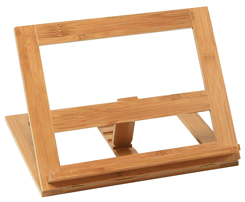 Kesper 56015 - Leggio per libro di cucina, in bambù, 33 x 26,5 x 2 cm