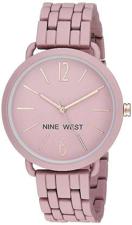 Nine West Women's Quartz Metal and Alloy Dress Watch, Color:Purple