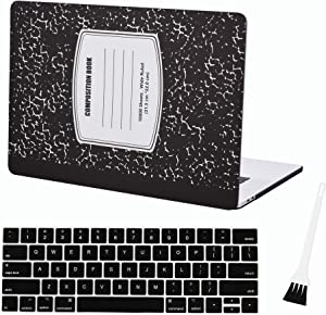 Case Star New MacBook Pro 15 Case Laptop Cover for 2020 2019 2018 2017&2016 Release A1990 A1707 MacBook Pro 15 Hard Case Sleeve with Silicone Keyboard Cover and Dust Brush (Notebook-Black)