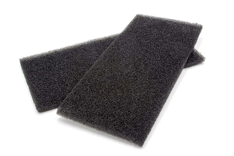 2x Filtro in gommapiuma HX 481010354757 per asciugatrice Whirlpool, nero, della casa produttrice vhbw VHBW4251358550280