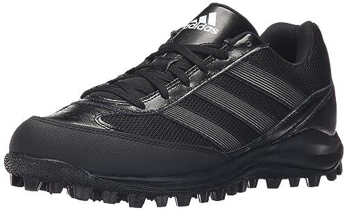 adidas Performance Men's Turf Hog LX Low Football Cleat,Black/Titaniam/White ,