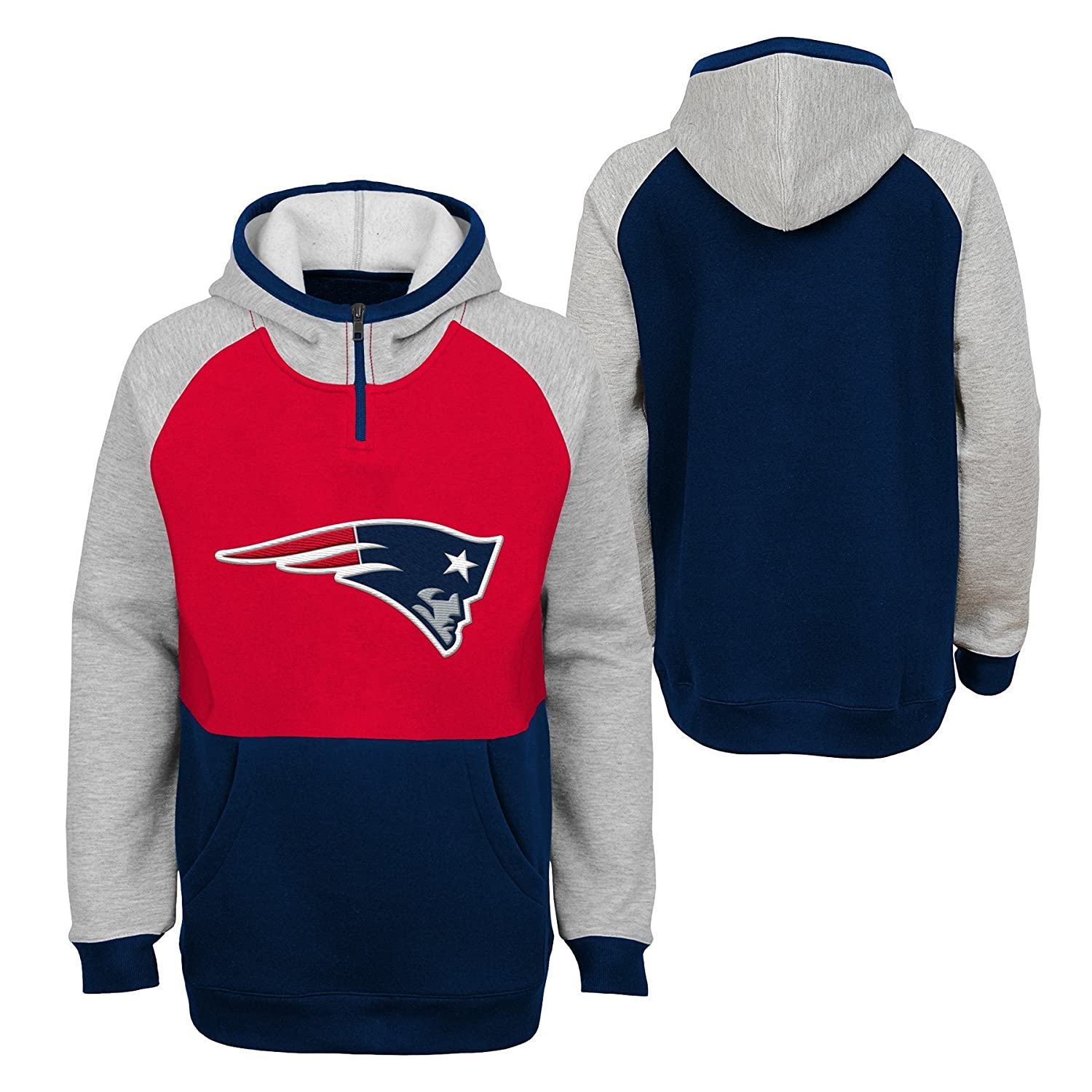 Outerstuff NFL Boys Youth Boys Regulator Hooded 1//4 Zip Top