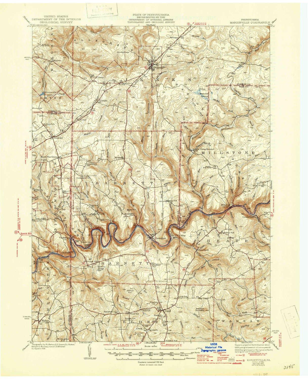 Amazon Com Yellowmaps Marienville Pa Topo Map 1 62500 Scale 15 X