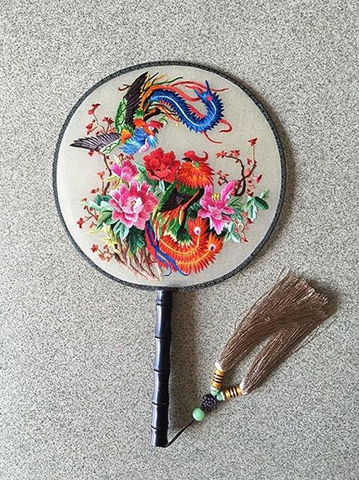 WE Suzhou Bordado Mano Bordado Ventilador Ventilador Antiguo Palacio Ventilador Antiguos Artesanías , 2,2: Amazon.es: Deportes y aire libre