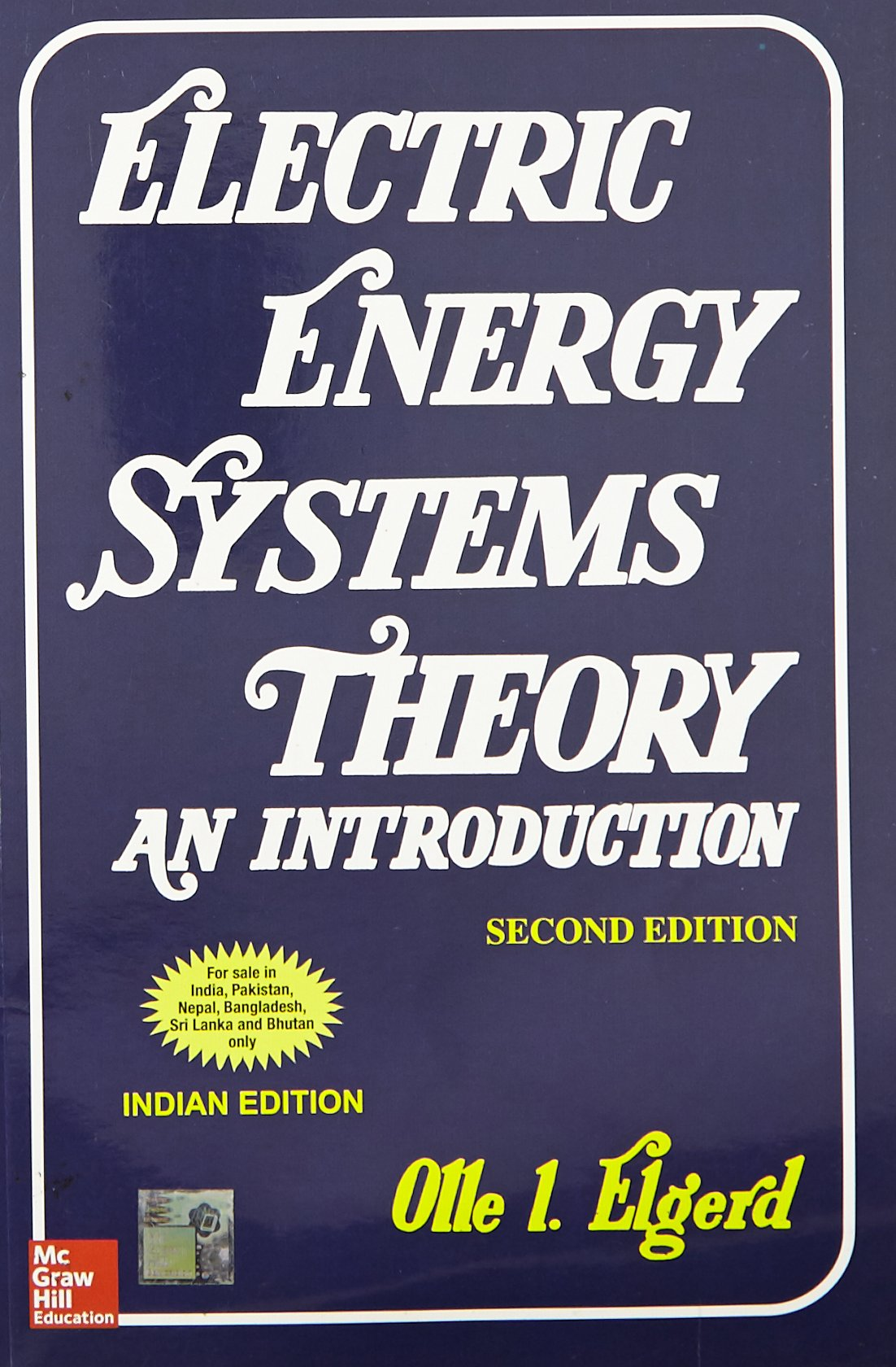 electric energy system theory elgerd solution