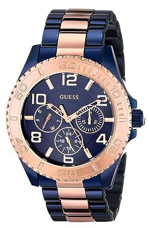 Amazon.com: Guess u0231l6 Iconic Azul Multifunción Azul de ...