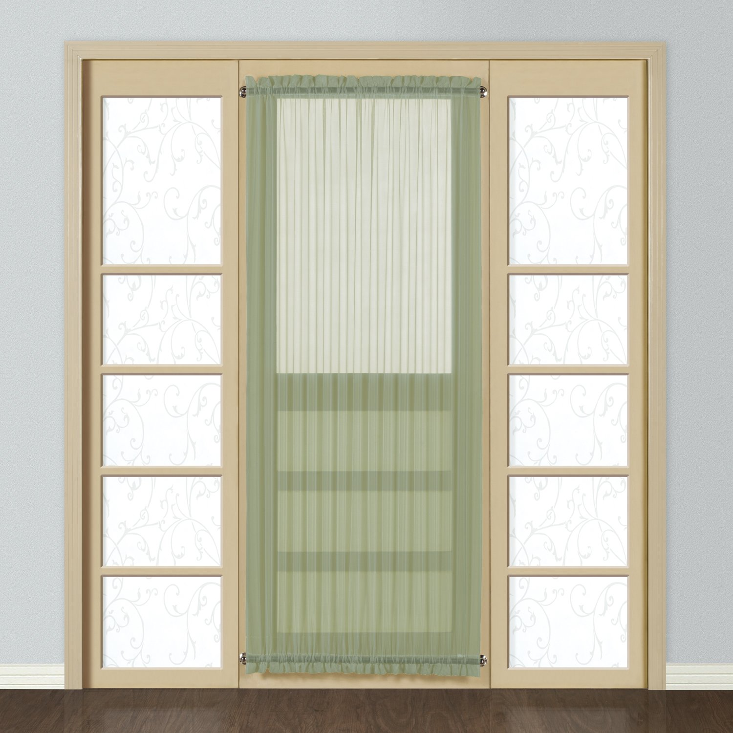 Design Door Curtains amazon com united curtain monte carlo sheer door panel 59 by 40 inch egg home kitchen