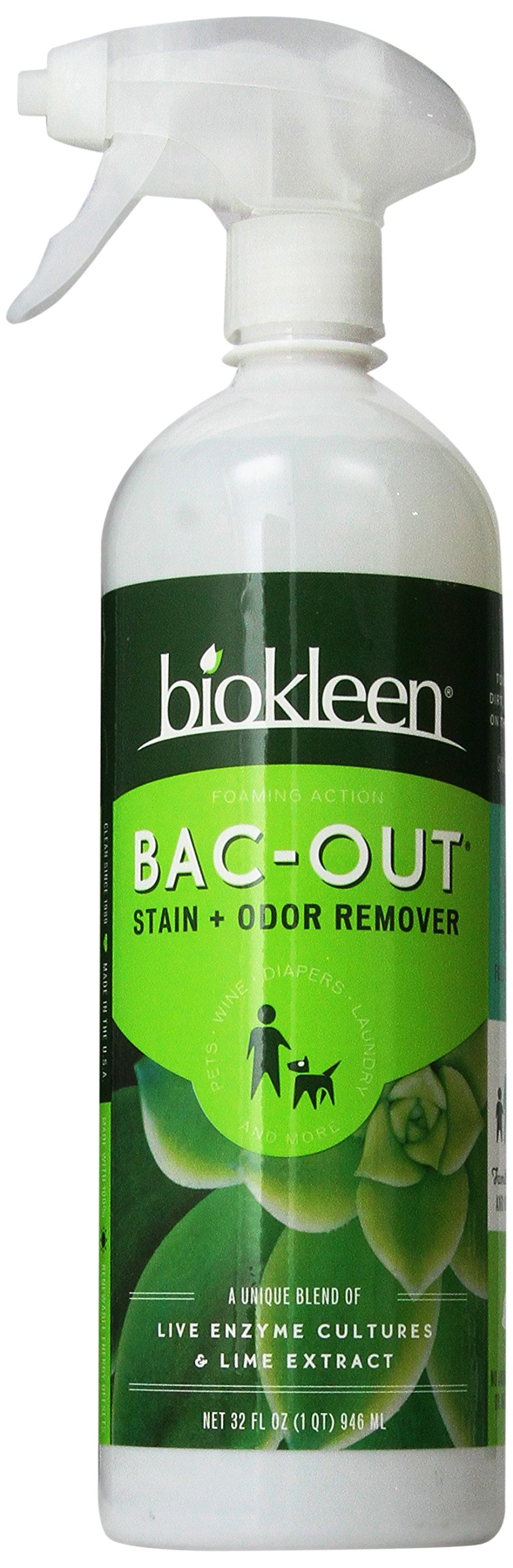 Biokleen Bac-Out Stain+Odor Remover Foam Spray, 32 oz