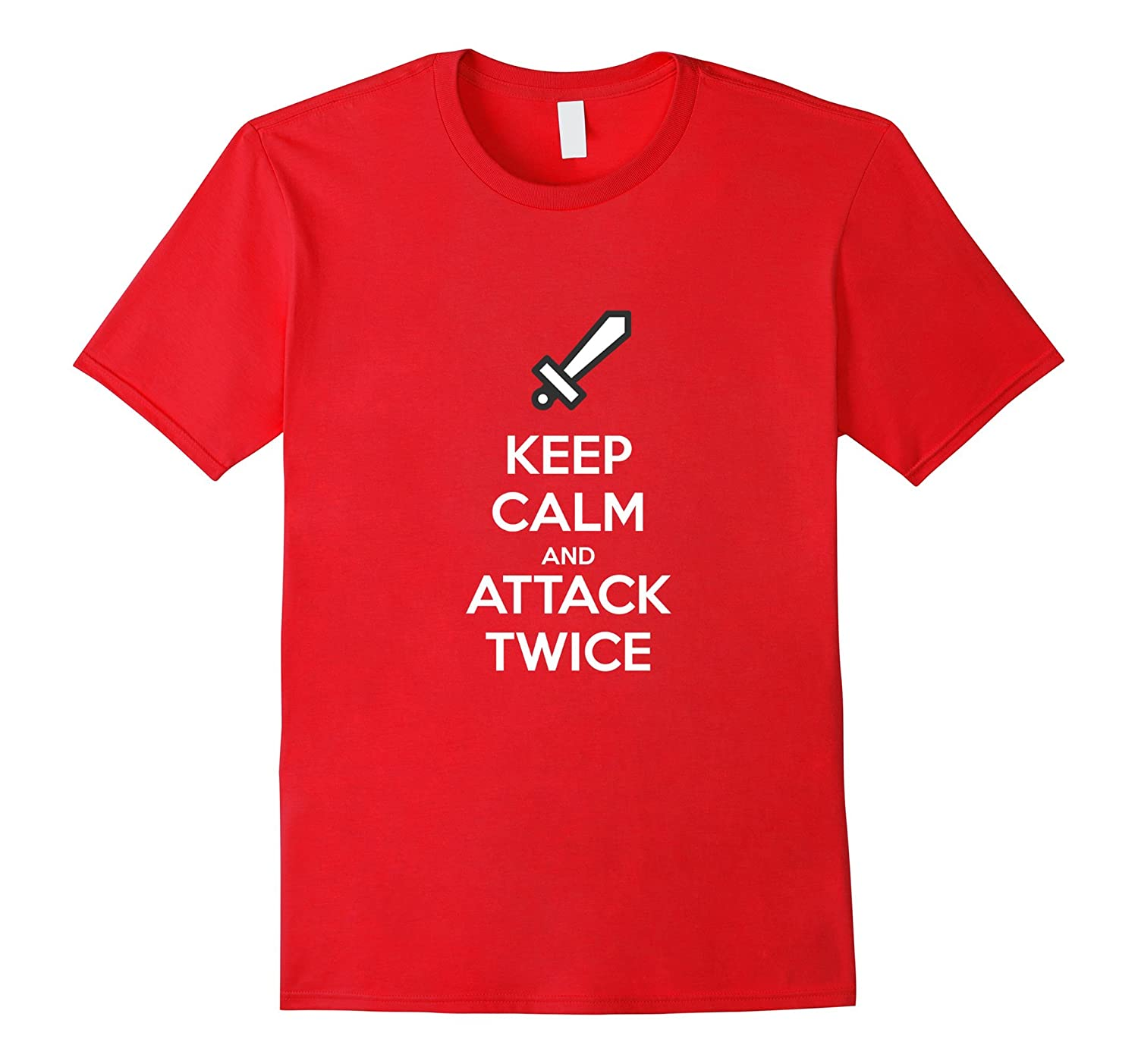 Keep Calm and Attack Twice  Clash Clans Tribute T-Shirt-BN
