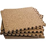 Interlocking Foam Mats – Interlocking Cork Flooring – Puzzle Floor Mat - Cork Interlocking Tiles , Anti-Fatigue , Premium Foam Mat with Borders