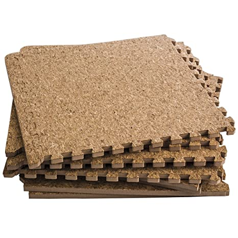 Amazoncom Dooboe Interlocking Foam Mats Interlocking Cork - Cork flooring nyc